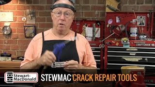Watch the Trade Secrets Video, StewMac Crack Repair Tools Video