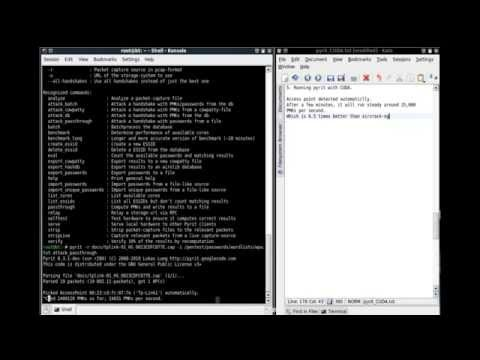 pyrit with CUDA - tutorial