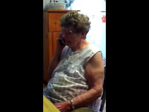Text to landline great grandma thinks it's a telemarketer.