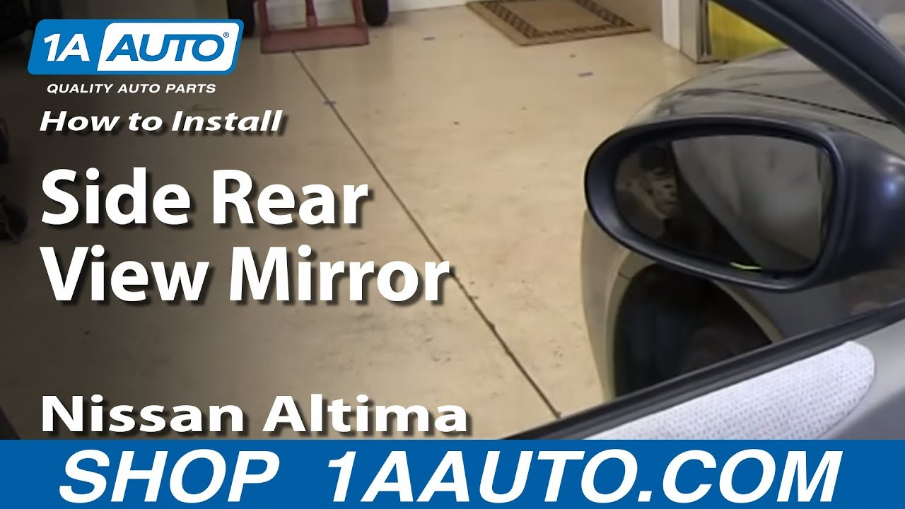 How to install replace remove side rear view mirror 2002 for Mirror installation