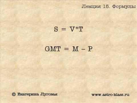 """Курс по астрологии """"Структура гороскопа"""". Урок 15. Астрологические формулы событий ч.1"""