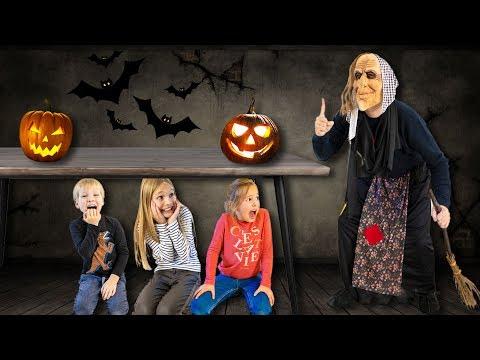 Amelia, Avelina and Akim funny Halloween story for kids