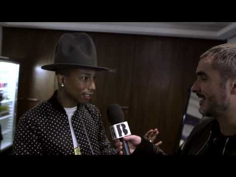 Zane Lowe with Pharrell Part I | Backstage At The BRITs 2014
