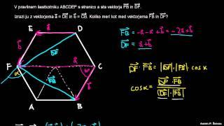 Skalarni produkt – naloga 3