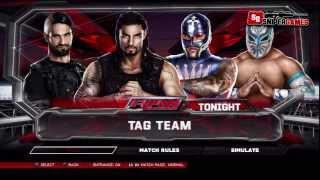 Tag Team Match #WWE2K14ذا شيلد ضد راي