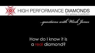 How Do I Know It's A Real Diamond?
