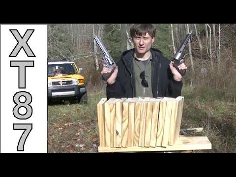 .460 S&W Vs. 500 S&W Comparisons: 2x10 Wooden Boards