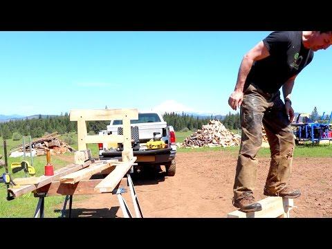 Sturdy Timber Framed Sawhorses