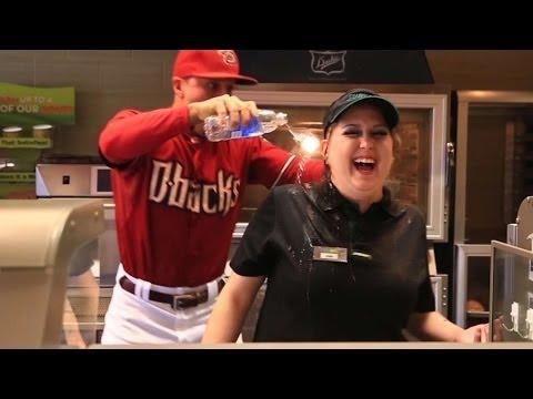 "Martin Prado Dispenses ""Dirt Baths"" In New Diamondbacks Commercial"