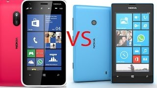 Nokia Lumia 520 Frente Nokia Lumia 620: Comparativa