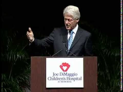 President Bill Clinton receives Joe DiMaggio's American Icon Award