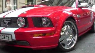 Heavy Modified Ford Mustang GT Convertible - Walkaround in Vienna videos