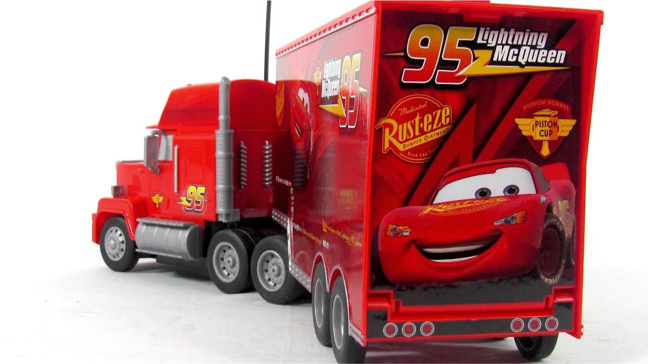 Disney Cars Toys Youtube: RC Turbo Mack Truck Toy Video
