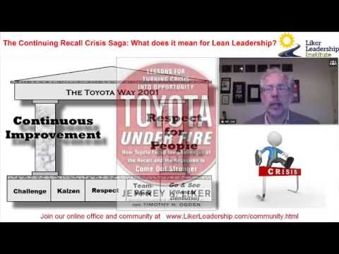 Toyota Recall Crisis -2014-What it means for Lean Leadership? Jeffrey K. Liker
