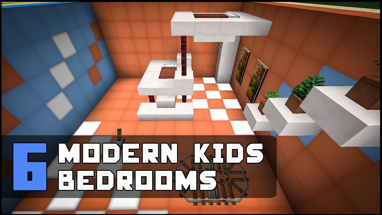 Minecraft modern kids bedroom designs ideas youtube for Bedroom ideas on minecraft