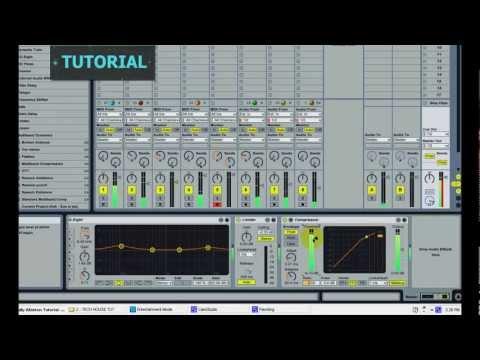 Ableton Live BASIC |  DEEP / TECH HOUSE Tutorial - How to create TECH HOUSE MUSIC in Ableton