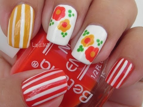 Nail Art - Candy Flowers