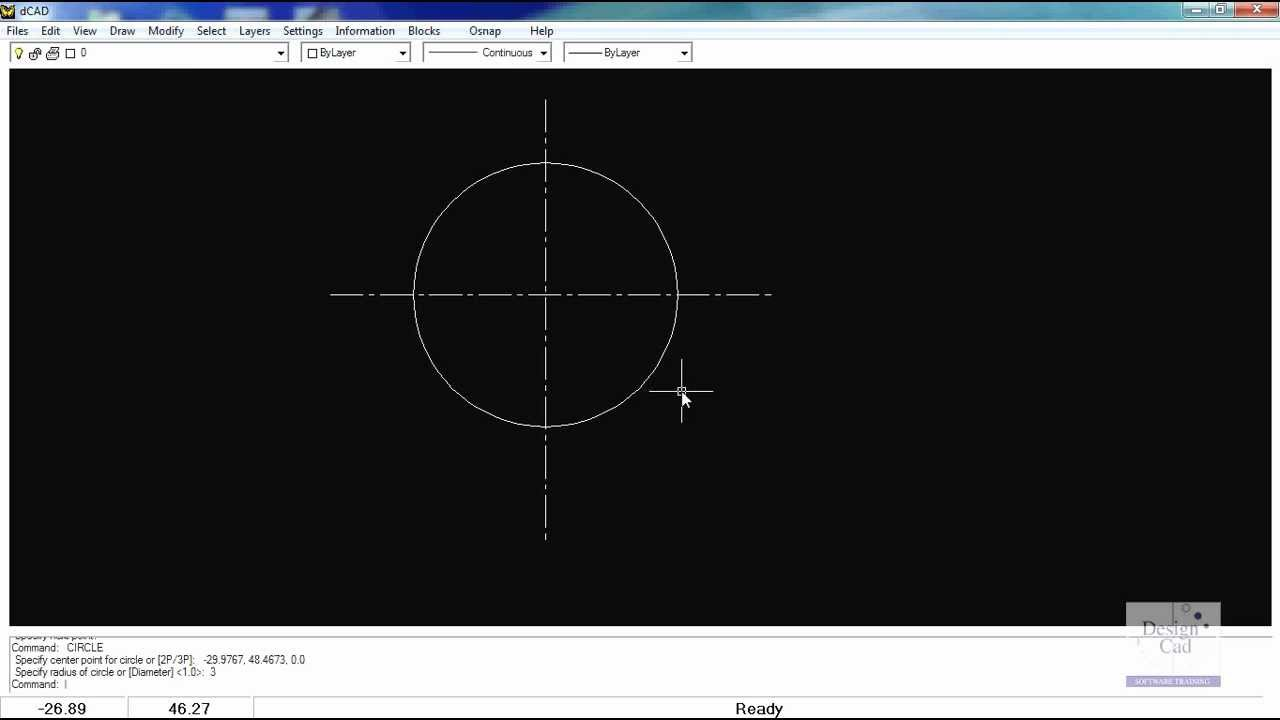 Drawing Lines In Cad : Set a center line pattern and use the copy rotate