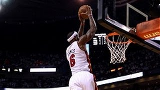 LeBron James' Sky-High Alley-Oop Slam Dunk!