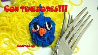 Angry Bird Azul Con Tenedores