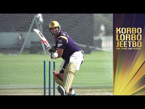 KALLIS SMASHING IT IN THE NETS | KKR Slow Mo 1 | Kolkata Knight Riders IPL Training action