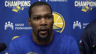 Kevin Durant on upcoming series vs San Antonio Spurs