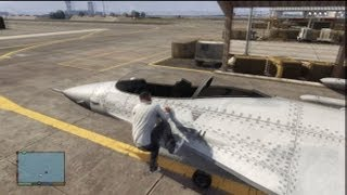 GTA V: How To Steal A Fighter Jet From Military Base (No
