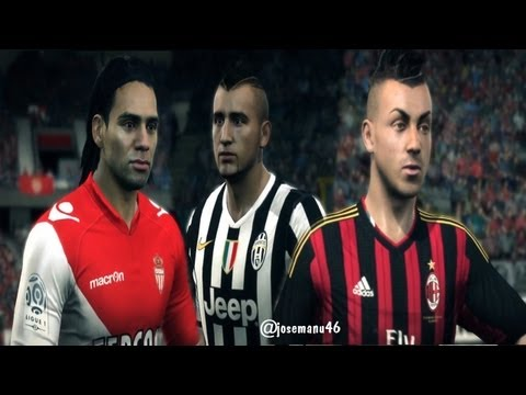 FIFA 14 vs FIFA 13 FACE Comparison (NEWEST Faces: Falcao, Vidal, El Shaarawy)