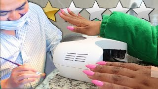 GETTING MY NAILS DONE AT LOW REVIEWED NAIL SALON! PLOT TWIST