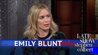 Emily Blunt Thinks Stephen Runs 'Cute'