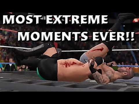 WWE 2K17 MOST EXTREME MOMENTS EVER!