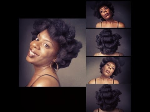 4C Natural Hair | Magnetic Roller Set Tutorial