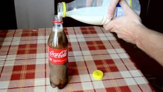Apa yang terjadi jika coca cola dicampur susu