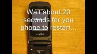 How To Erase / Reset Samsung Chrono R261 Personal Data And