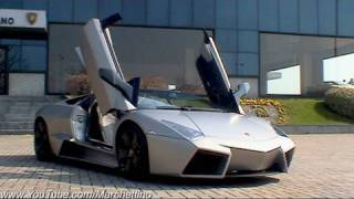 Lamborghini Reventón Roadster Start, Rev and Accelerate