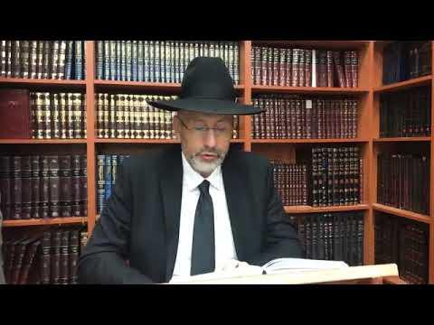 Le rabbi explique chabbat zakhor