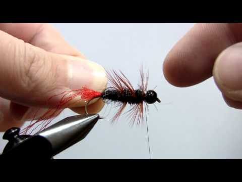 "Fly Tying Nymph ""Black Red Tag"""