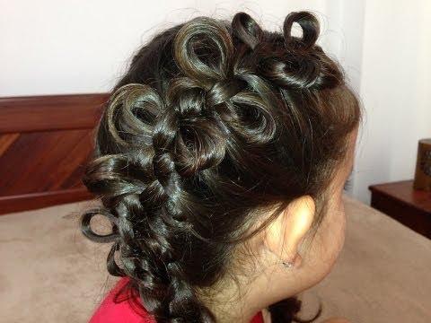 Trança embutida com lacinhos de cabelo