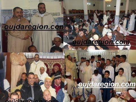 فيديو وصور.:وجدة:المئات من مريدي الطريقة الصوفية العلوية المغربية يحيون ليلة النصف من شعبان