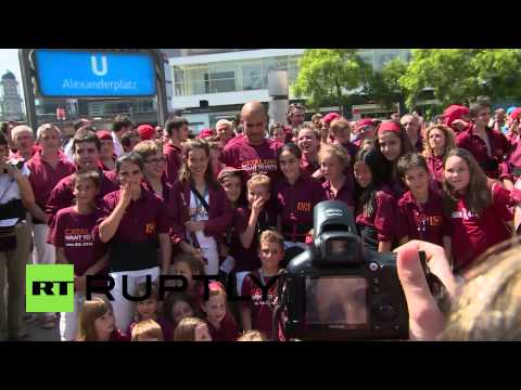 Germany: Pep Guardiola graces Catalan separatist rally in Berlin