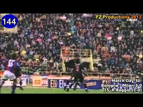 Roberto Baggio - 205 goals in Serie A (part 4/5): 130-160 (Bologna and Inter 1997-2000)