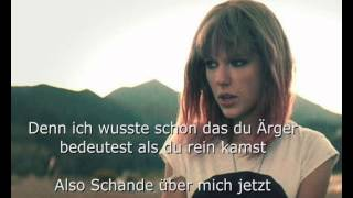 Taylor Swift - I Knew You Were Trouble Deutsch