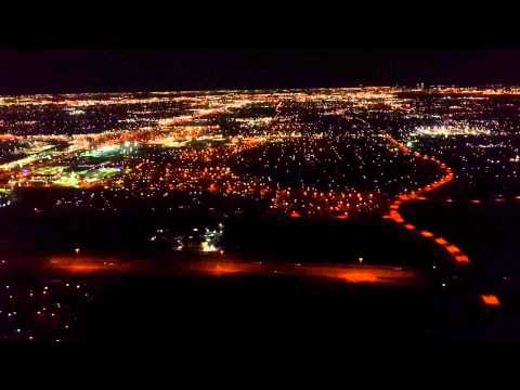 Dallas-Fort Worth International Airport (DFW) - Night landing