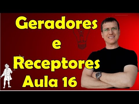 Geradores, receptores e resistores - Eletrodinâmica - Aula 16 - Prof. Marcelo Boaro