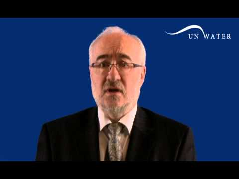 UN-Water Chair Michel Jarraud video message during General Assembly, New York 18 Feb 2014
