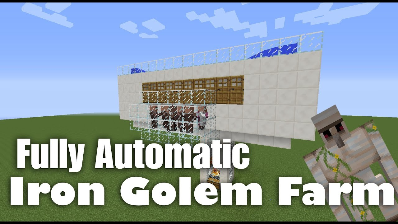 How To Build A Iron Golem Farm In Minecraft