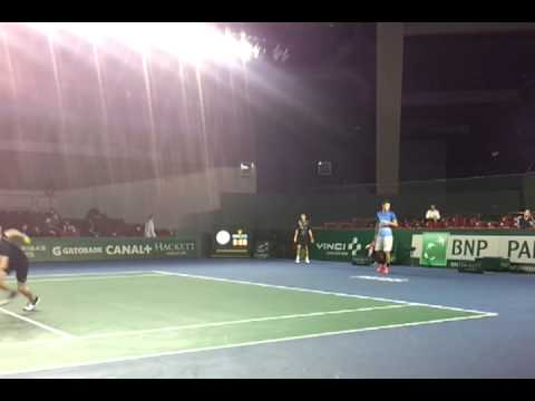 Echauffement Tomic / Carreno Busta