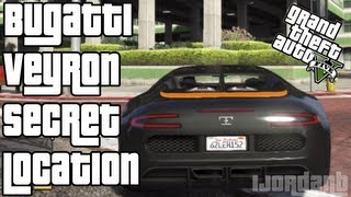 """GTA 5"" ""BUGATTI VEYRON SECRET LOCATION"" How To Get A Bugatti Veyron - Bugatti Veyron LOCATION GUIDE"