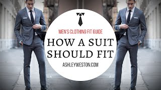 How A Suit Should Fit - Men's Clothing Fit Guide