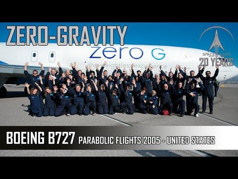 Симуляция невесомости на борту  Boeing B727-200